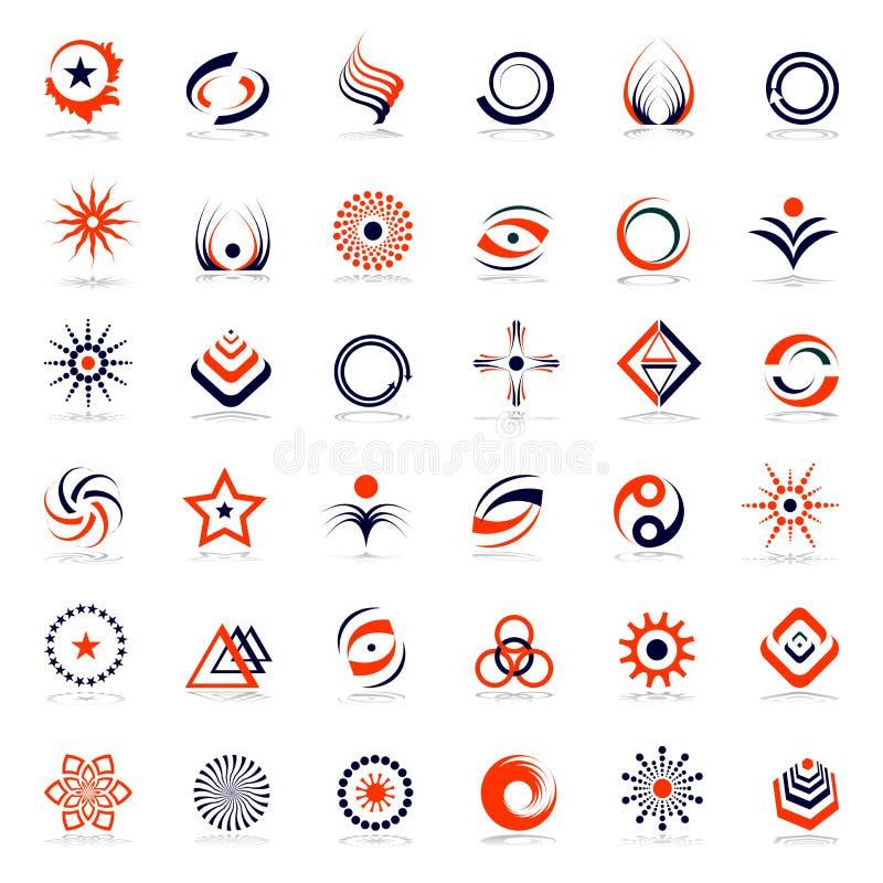 Progetti l'insieme di elementi Icone astratte royalty illustrazione gratis
