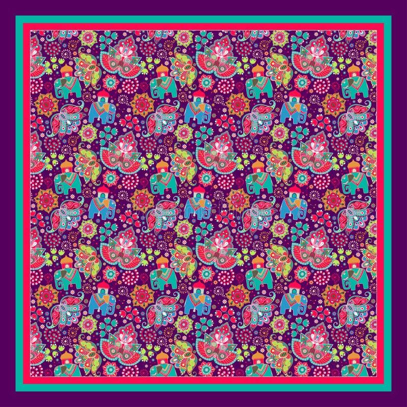 Download Progetti Per Il Quadrato Della Tasca, Lo Scialle, Tessuto Illustrazione Vettoriale - Illustrazione di arabo, decorazione: 55351598