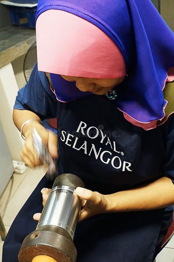Progettista del peltro, Kuala Lumpur, Malesia immagini stock