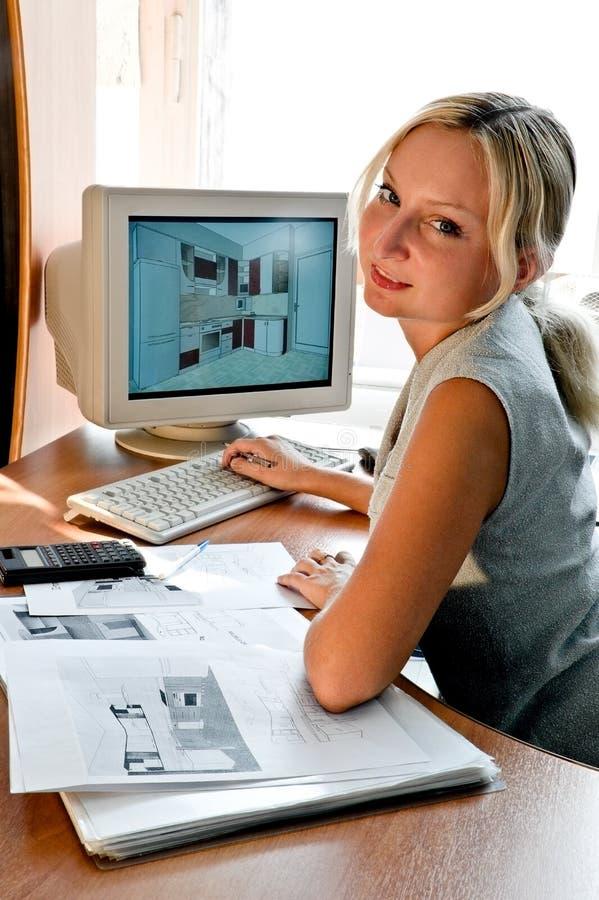 Progettista della mobilia fotografia stock libera da diritti