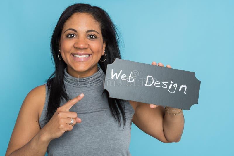 Progettista femminile di web fotografia stock libera da diritti