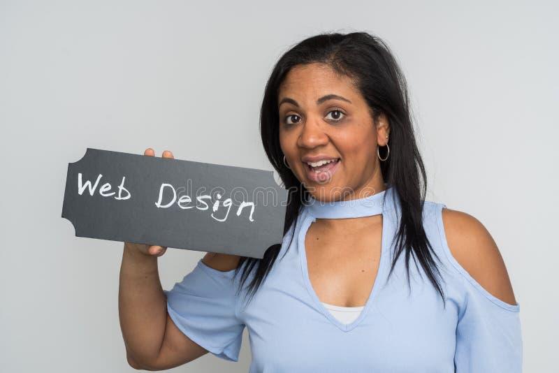 Progettista femminile di web fotografia stock