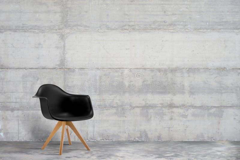 Progettista, poltrona moderna in grigio, interno di stile del sottotetto fotografia stock