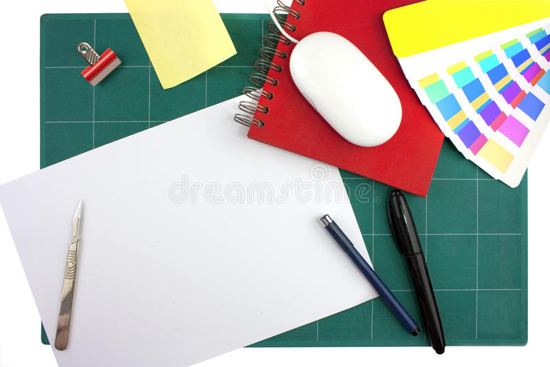 Progettisti grafici da tavolino fotografia stock