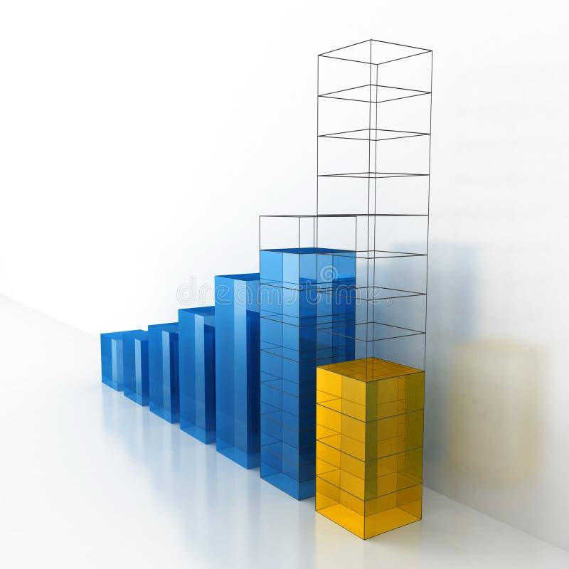 Progetto dell'istogramma di affari di progresso & di crescita illustrazione di stock