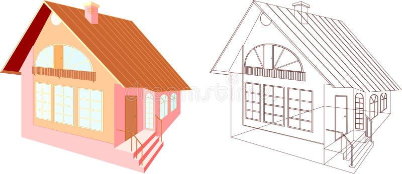 Progetto della Camera royalty illustrazione gratis