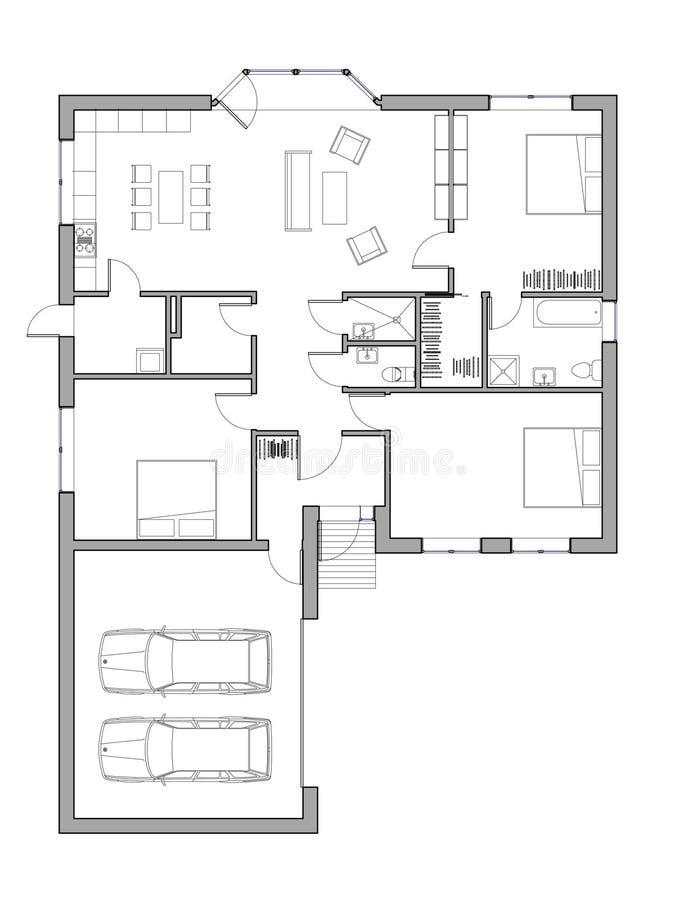 Progetto della casa unifamiliare illustrazione di stock illustrazione di concetto progetto - Disegno progetto casa ...
