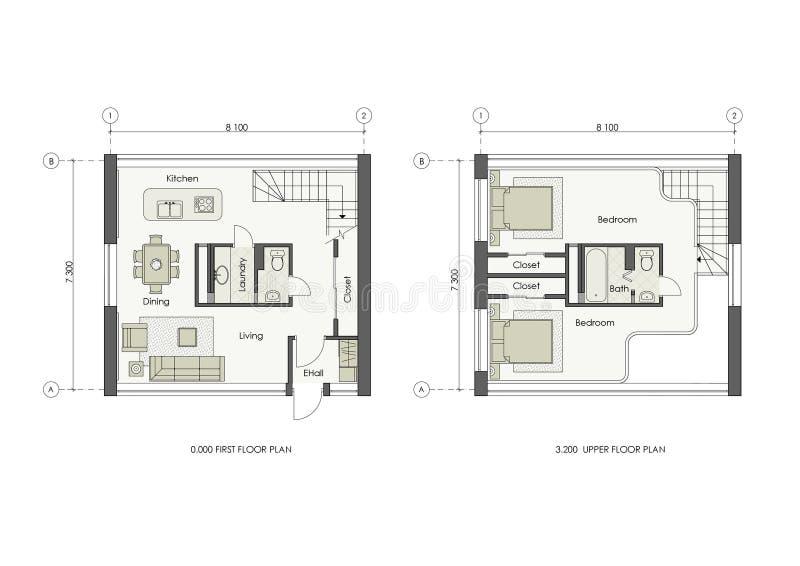 Progetto della piccola casa illustrazione di stock for Progetto casa piccola