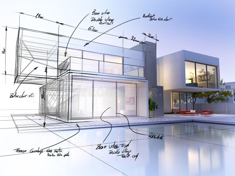 Progetto della villa royalty illustrazione gratis