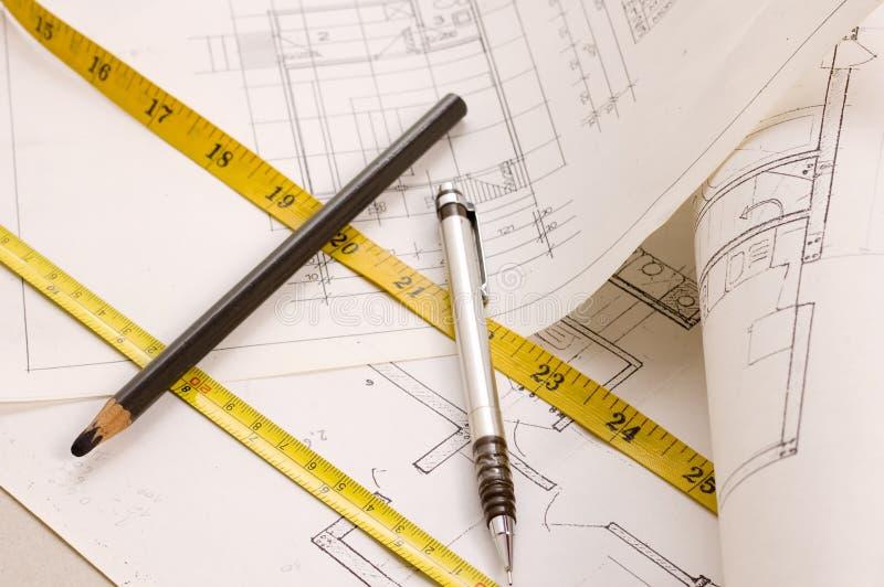 Progetto Di Architettura Fotografia Stock