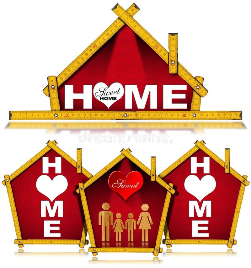 Progetto di casa dolce domestico illustrazione di stock for Progetto domestico