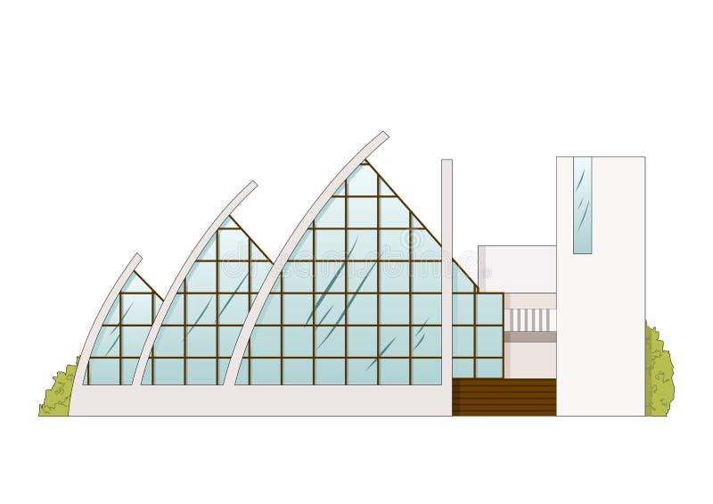 Progetto di costruzione di architettura di vettore illustrazione vettoriale