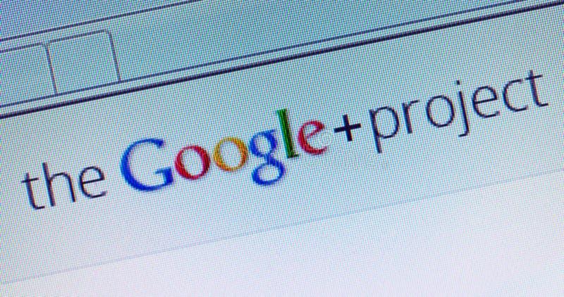 Progetto di Google+ fotografia stock