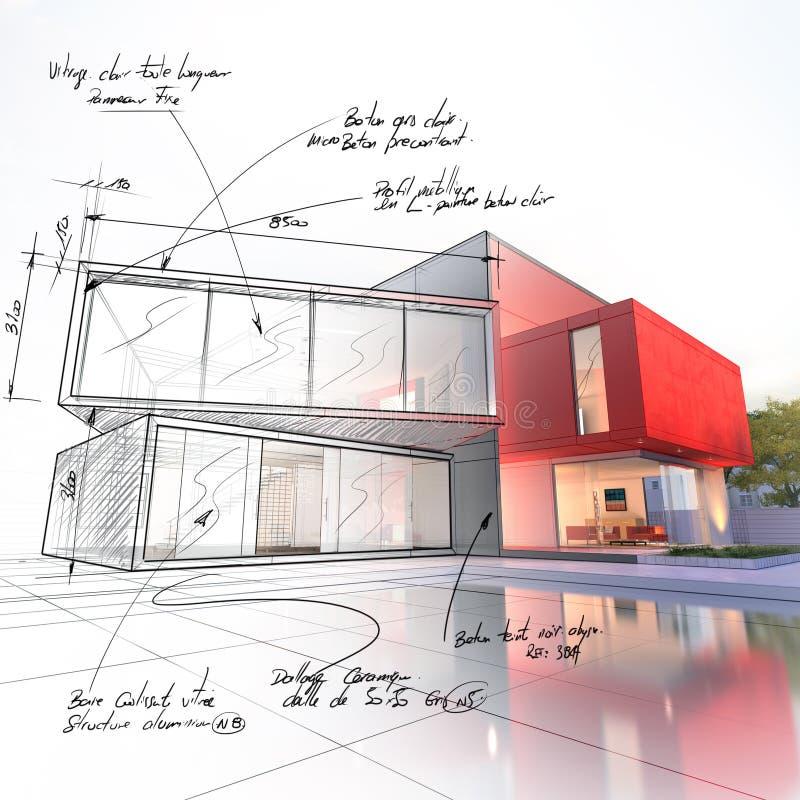 Progetto di lusso di progetto della casa illustrazione vettoriale