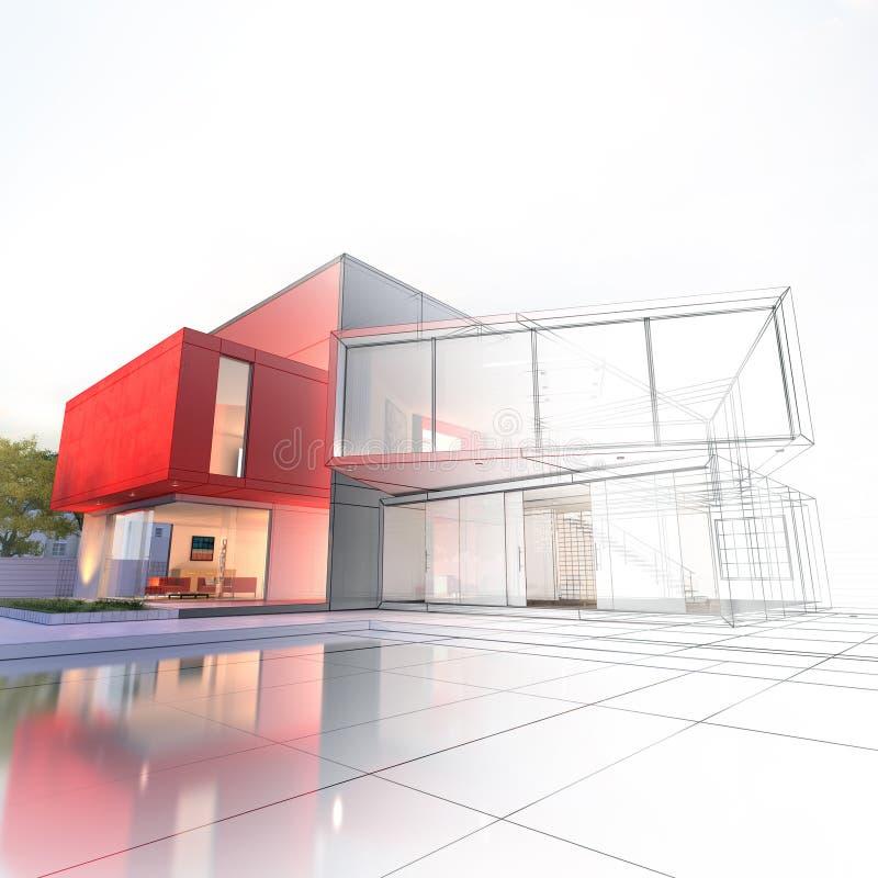 Progetto di lusso della casa illustrazione di stock