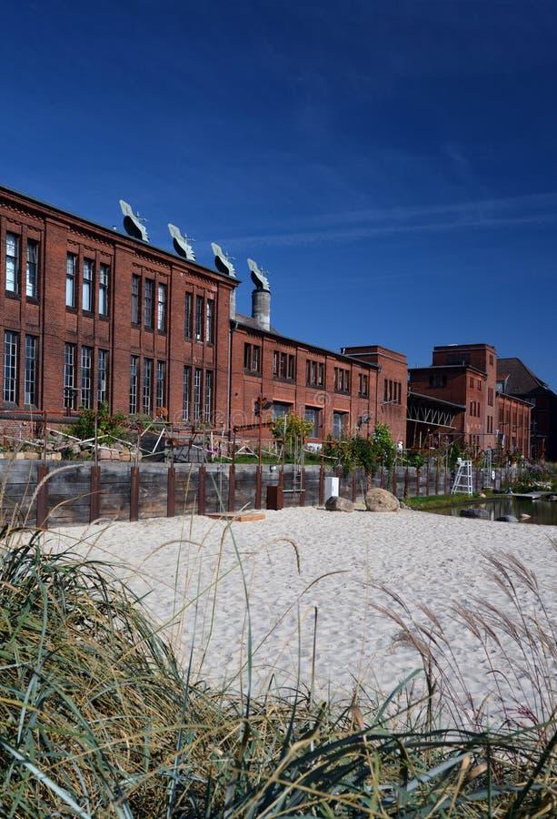 Progetto di riconversione industriale a Berlino fotografia stock