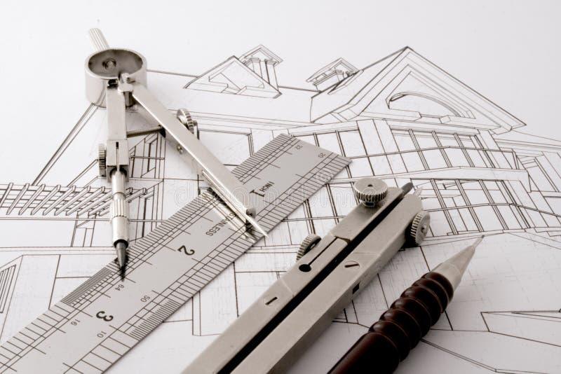 Progetto domestico di architettura fotografia stock libera da diritti