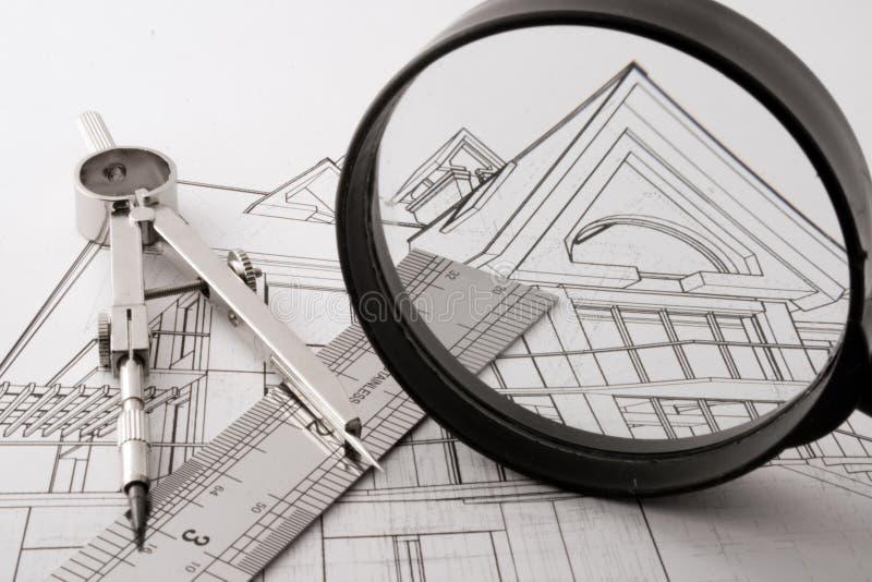Progetto domestico di architettura fotografia stock