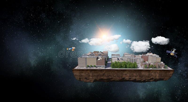 Progetto esteriore architettonico Media misti fotografia stock libera da diritti