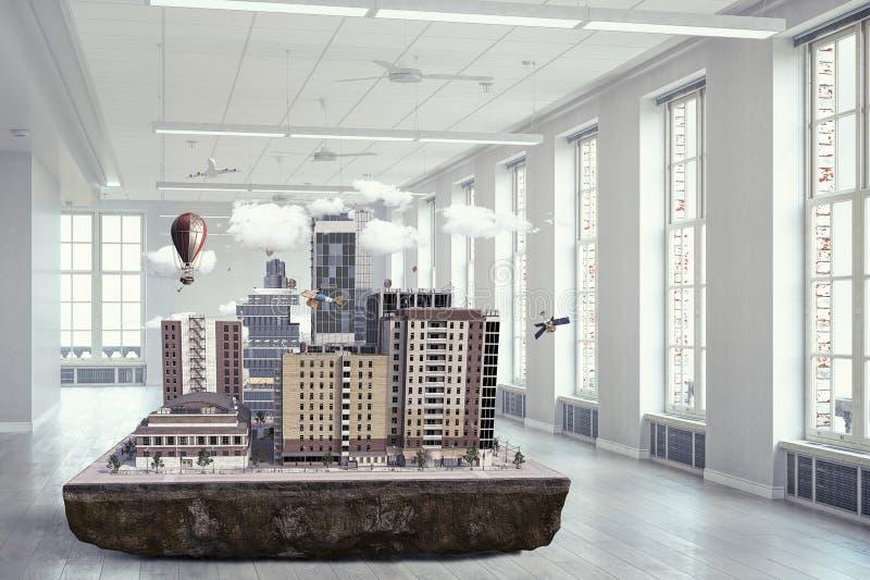 Progetto esteriore architettonico Media misti immagini stock libere da diritti