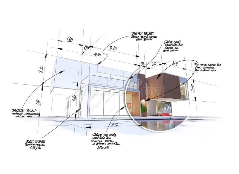 Progetto moderno di architettura high-end royalty illustrazione gratis