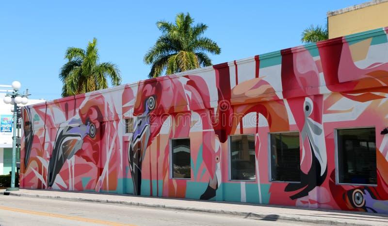Progetto murale del centro di Hollywood fotografie stock