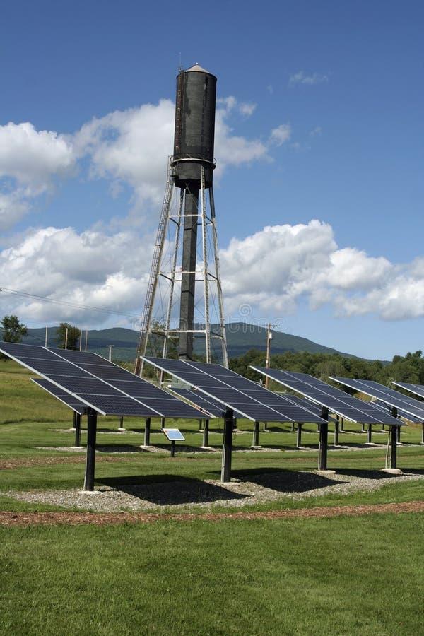 Progetto solare centrale di servizio pubblico del Vermont fotografia stock