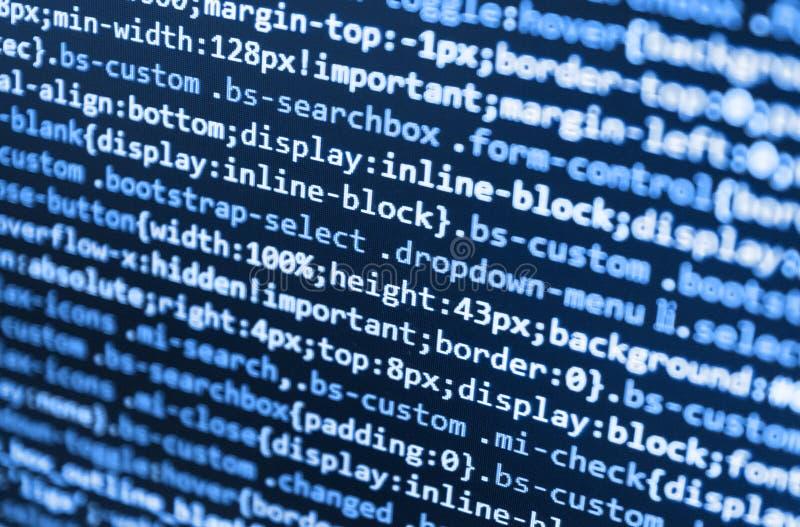 Progetto startup innovatore Tecnologia astratta di programmazione di codice immagine stock