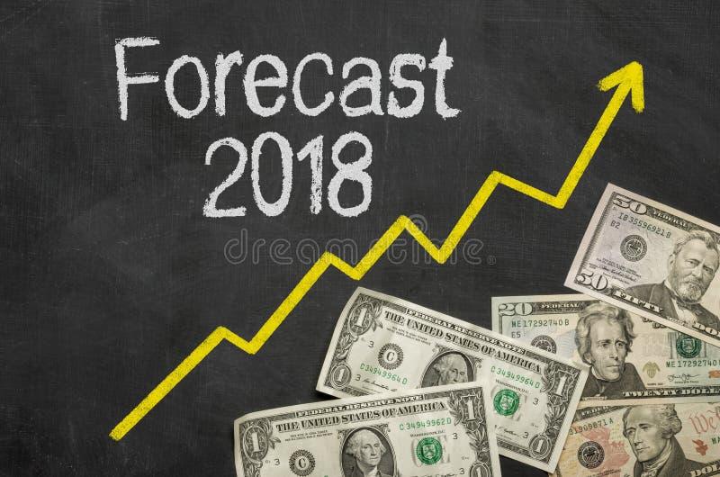 Prognose 2018 stockfoto