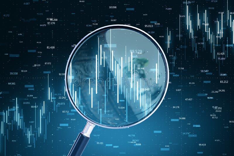 Prognose und Wirtschaftskonzept stockbild
