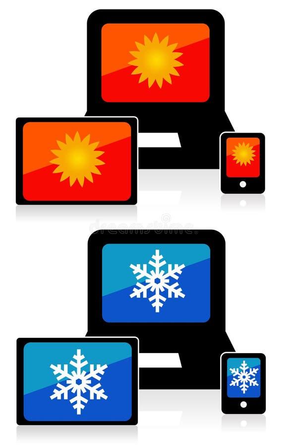 Download Prognoza pogody ilustracji. Ilustracja złożonej z ostrzeżenie - 28972368