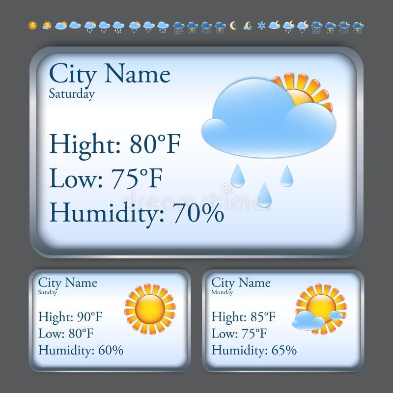 Prognoza pogody interfejs ilustracji