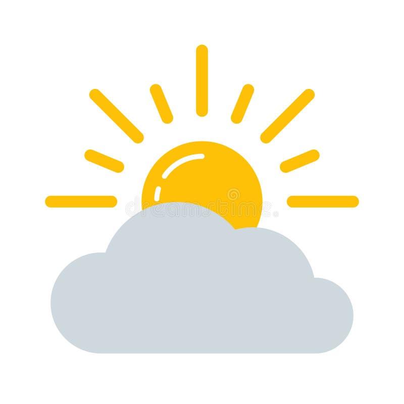 Prognoza pogody wektoru ikona ilustracja wektor