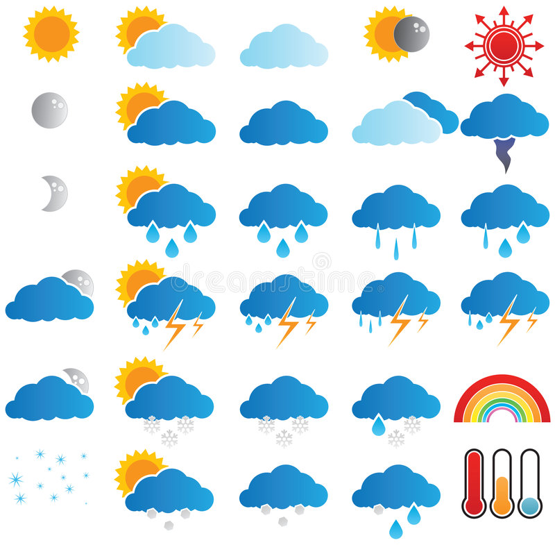 prognozy pogoda obraz stock