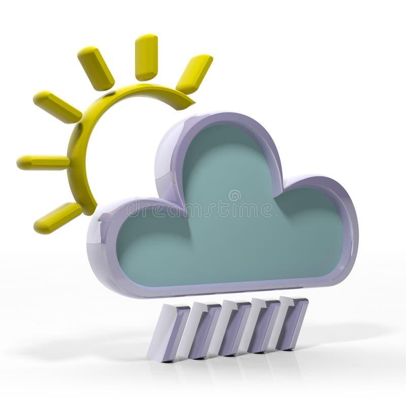 Prognozy pogody 3d ikona royalty ilustracja