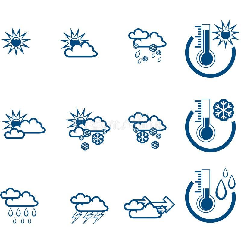 prognozy pogody icone wektora royalty ilustracja