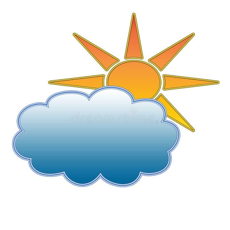 Prognozy pogody ikona royalty ilustracja