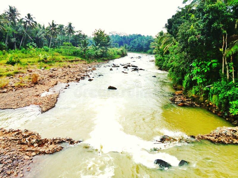 Progo-Fluss magelang stockbilder