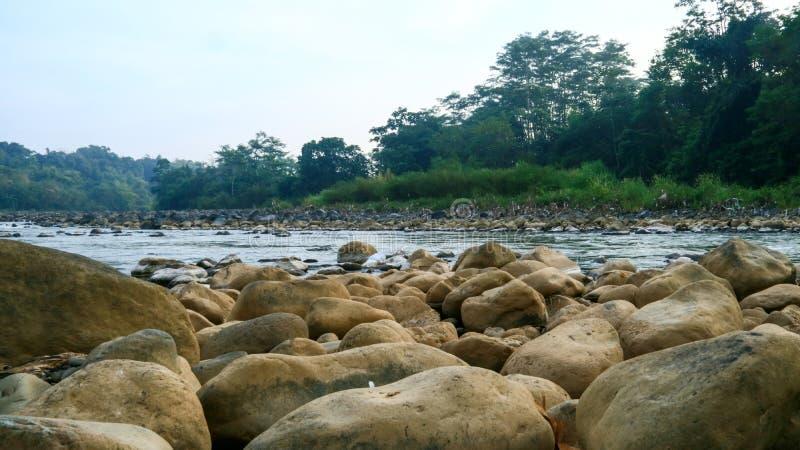 Progo-Fluss in Magelang stockbild