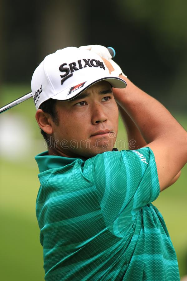 Progolfspieler Hideki Matsuyamas PGA lizenzfreie stockfotografie