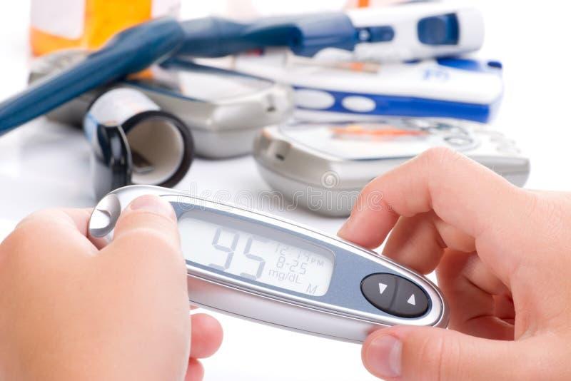 Progrès dans le bloo de niveau de glucose image libre de droits
