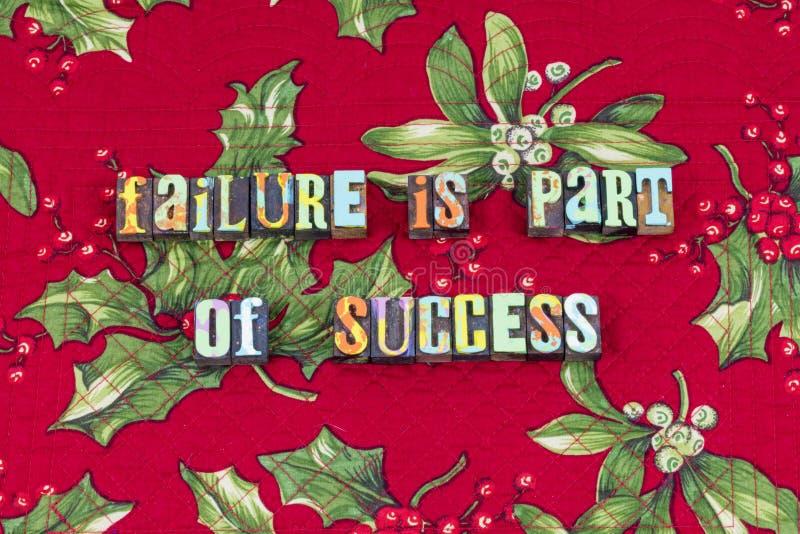 Progrès de succès d'échec apprendre la typographie d'option photo stock
