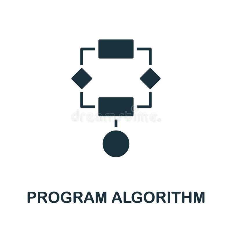 Program Algorithm icon. Creative element design from programmer icons collection. Pixel perfect Program Algorithm icon stock illustration