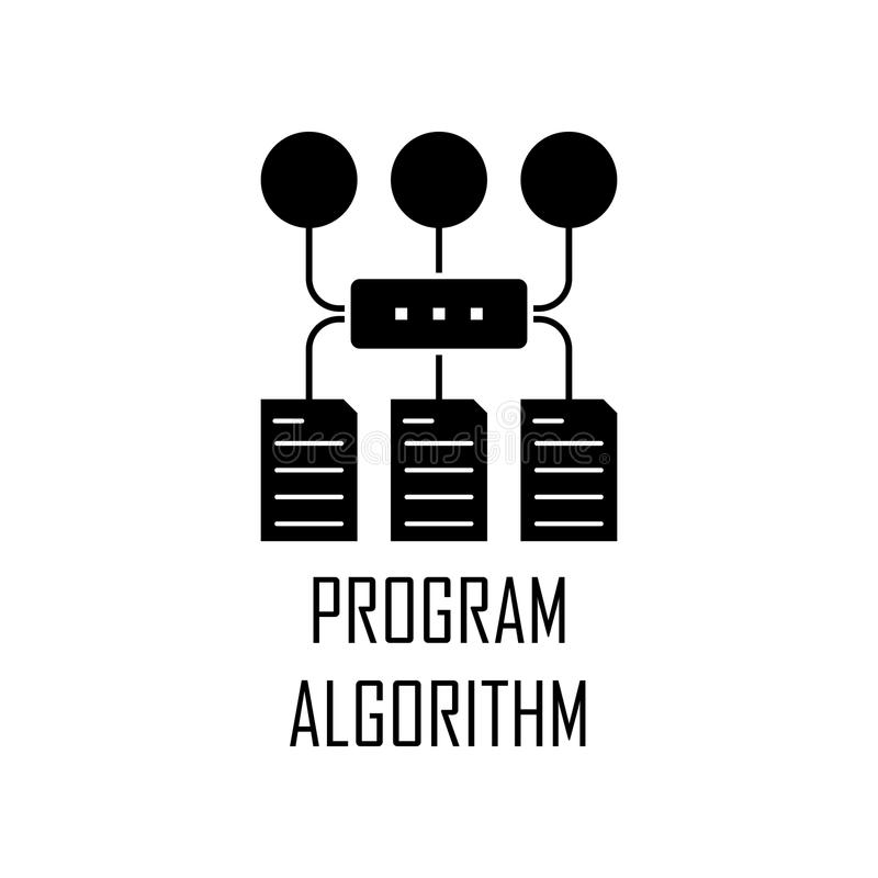 program algorithm icon. Element of Web Development for mobile concept and web apps. Detailed program algorithm icon can be used fo vector illustration