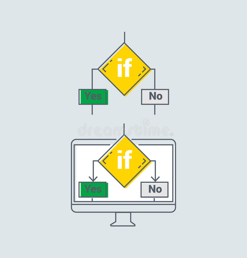 Program Algorithm icon vector illustration