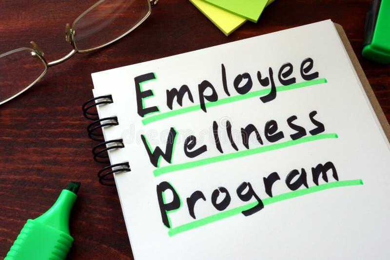 Program för anställdWellness arkivbild