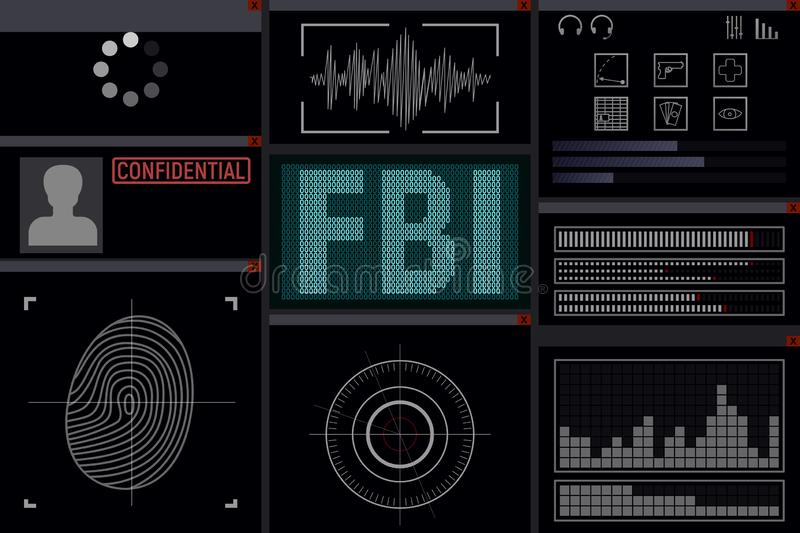 Program för FBI royaltyfri illustrationer