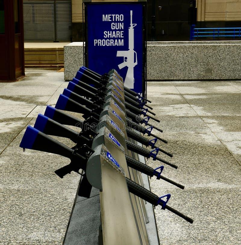 Program för tunnelbanavapenaktie royaltyfri foto