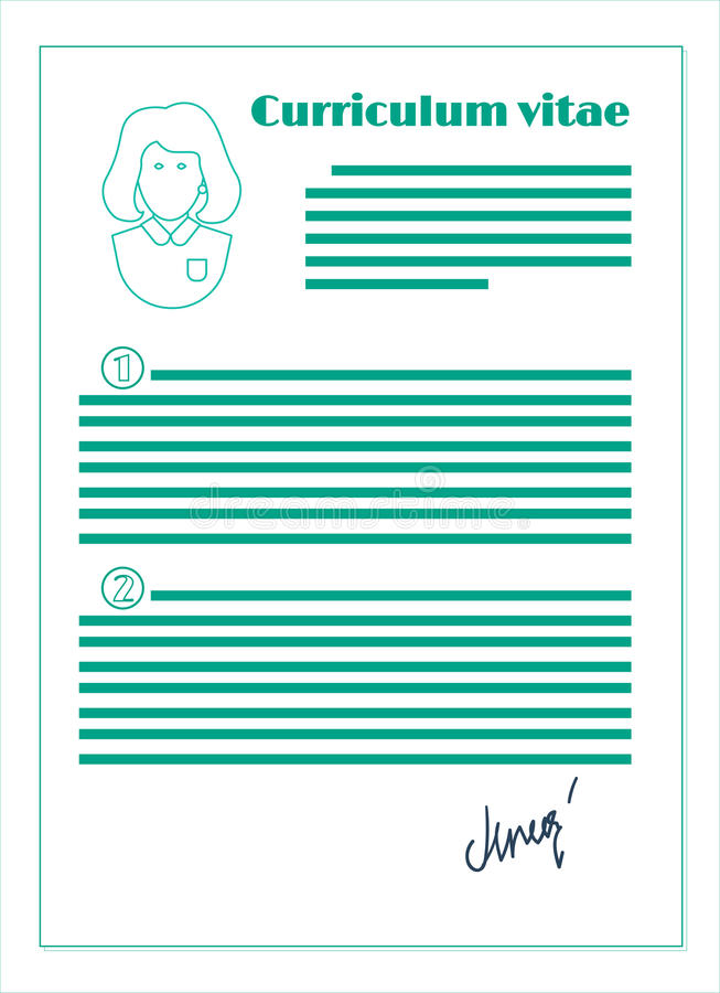 Program nauczania - vitae, kreskowy projekt ilustracja wektor