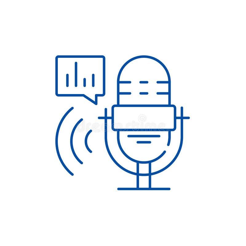 Program radiowy ikony kreskowy pojęcie Programa radiowego płaski wektorowy symbol, znak, kontur ilustracja ilustracja wektor